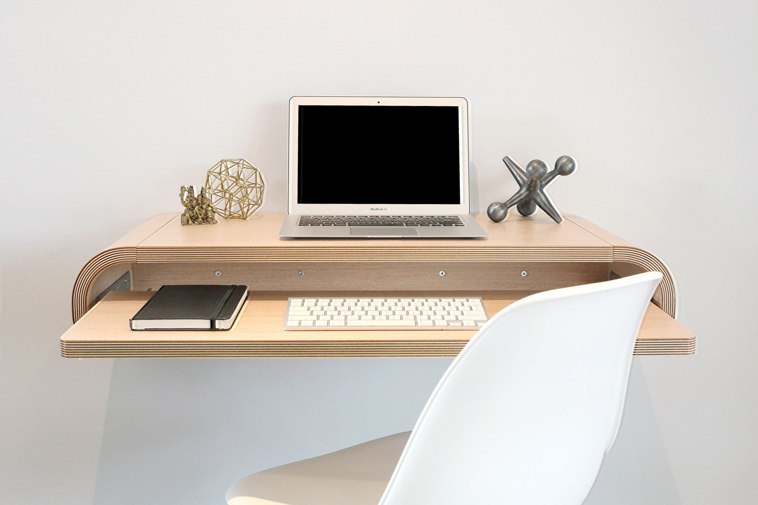 Minimal Wall Desk Rift Oak Modern Intentions Your Authentic Designer Home