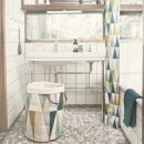Spear Shower Curtain in use ferm Living