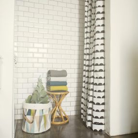 Half Moon Shower Curtain in use ferm Living