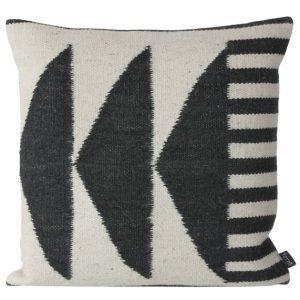 Kelim Black Triangles Pillow