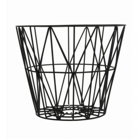 Wire Basket Black ferm Living