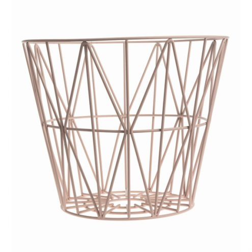 Wire Basket Rose ferm Living
