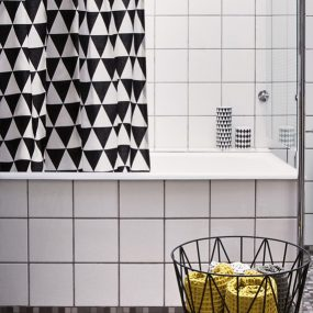 Triangle Shower Curtain Designed by Trine Andersen ferm Living