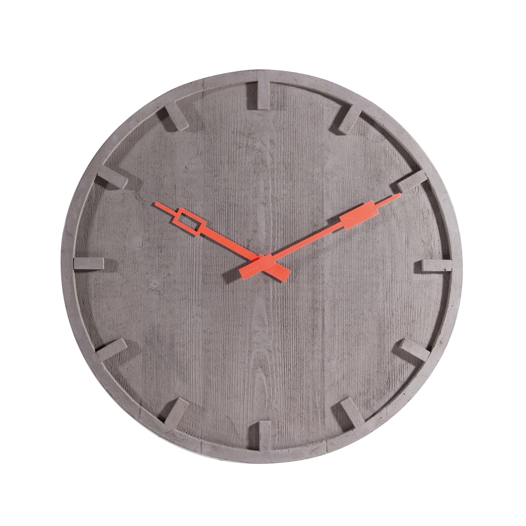 memento  cement clock  modern intentions  shop modern clocks - memento  cement clock designed by alessandro zambelli  seletti