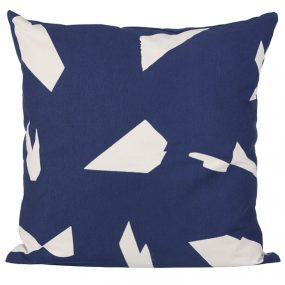 ferm Living Cut Cushion dark blue