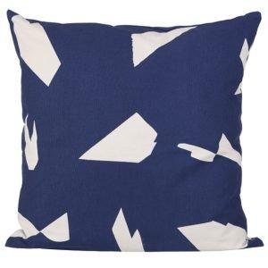 ferm Living Cut Cushion dark blue