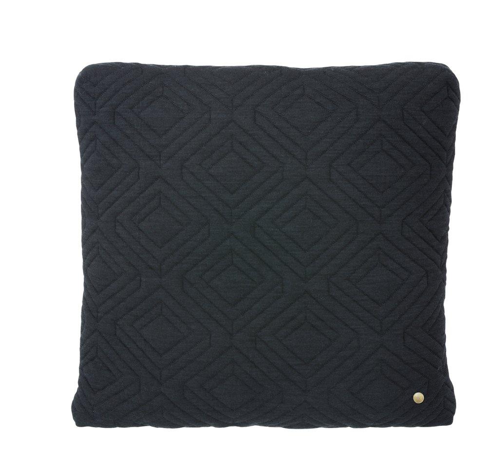 quilt dark grey cushion modern intentions shop modern. Black Bedroom Furniture Sets. Home Design Ideas