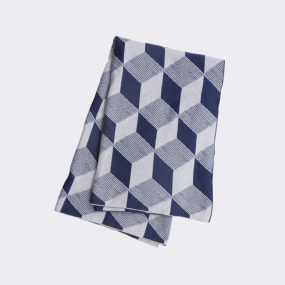 Squares Blanket ferm Living blue
