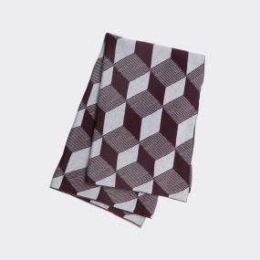 Squares Blanket ferm Living bordeaux