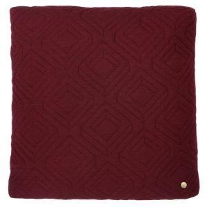 ferm Living Quilt Cushions Bordeaux