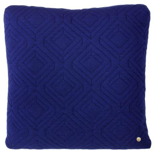ferm Living Quilt Cushions dark blue