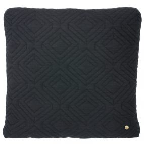 ferm Living Quilt Cushions dark grey