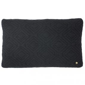 Quilt Dark Grey Cushion ferm Living