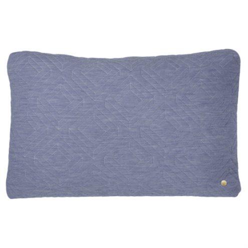 ferm Living Quilt Light Blue Cushion