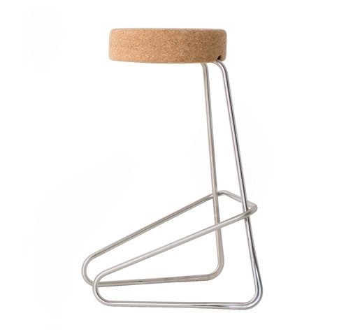 CC3 Cantilever Bar Stool Cork Edition Designed by Joop Couwenberg Tecta