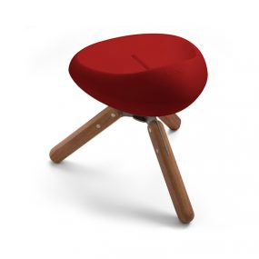 Beaser 45 Wood Stool red Lonc