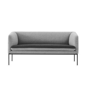 2 seater Turn Sofa ferm Living grey wool modern furniture