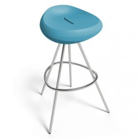 beaser 80 bar stool petrol blue Lonc