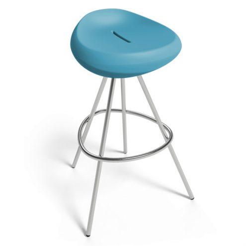 beaser 80 bar stool petrol blue Lonc