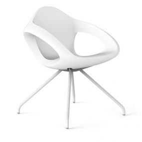 easer indoor /outdoor dining chair white Lonc