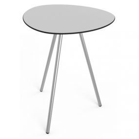 high a lowha indoor outdoor bar table stainless steel base grey tabletop Lonc