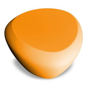 Teaser outdoor footstool / side table orange Lonc