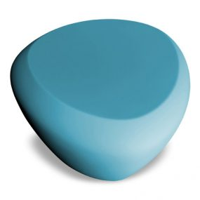 Teaser outdoor footstool / side table petrol blue Lonc