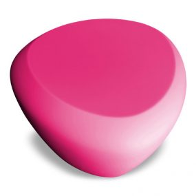 Teaser outdoor footstool / side table pink Lonc