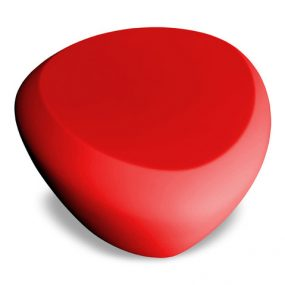 Teaser outdoor footstool / side table red Lonc