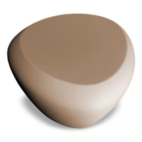 Teaser outdoor footstool / side table taupe Lonc