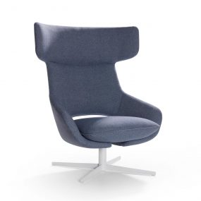 Artifort Kalm Swivel Armchair in Denim Blue
