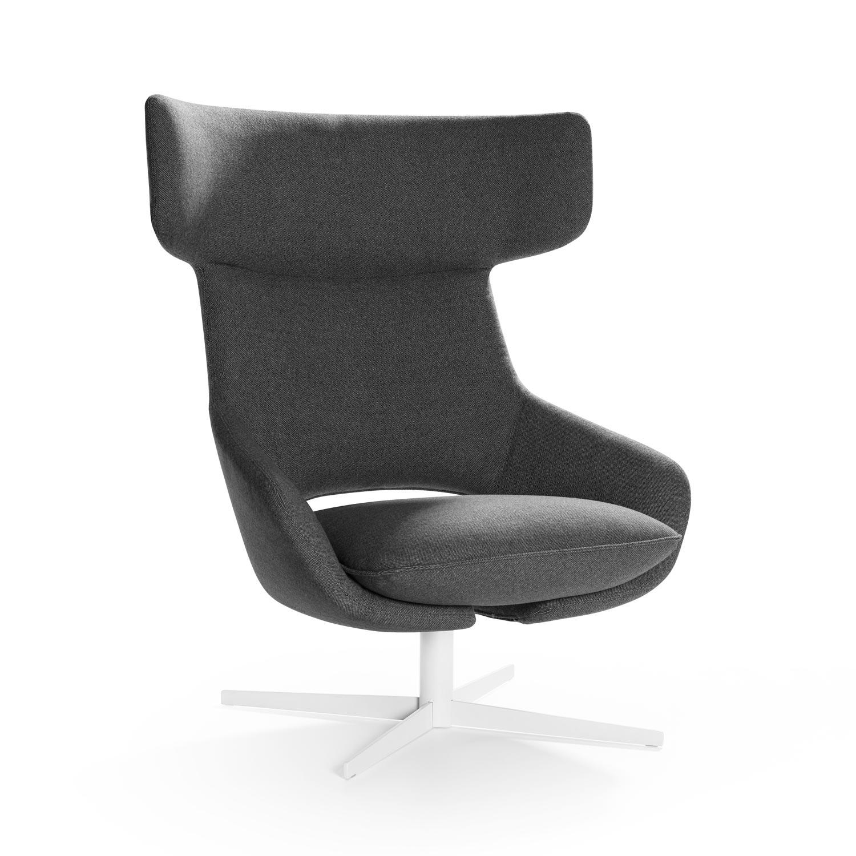 Artifort_Kalm_Swivel Armchair Tweed Grey