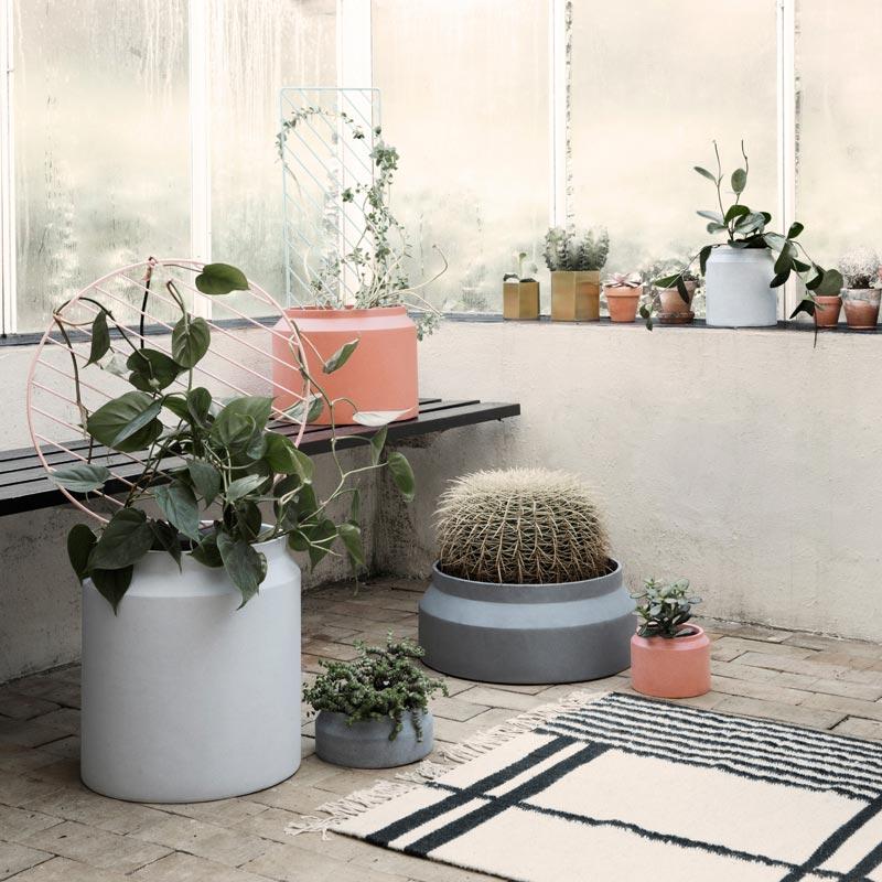 Indoor Outdoor Concrete Pots By Ferm Living