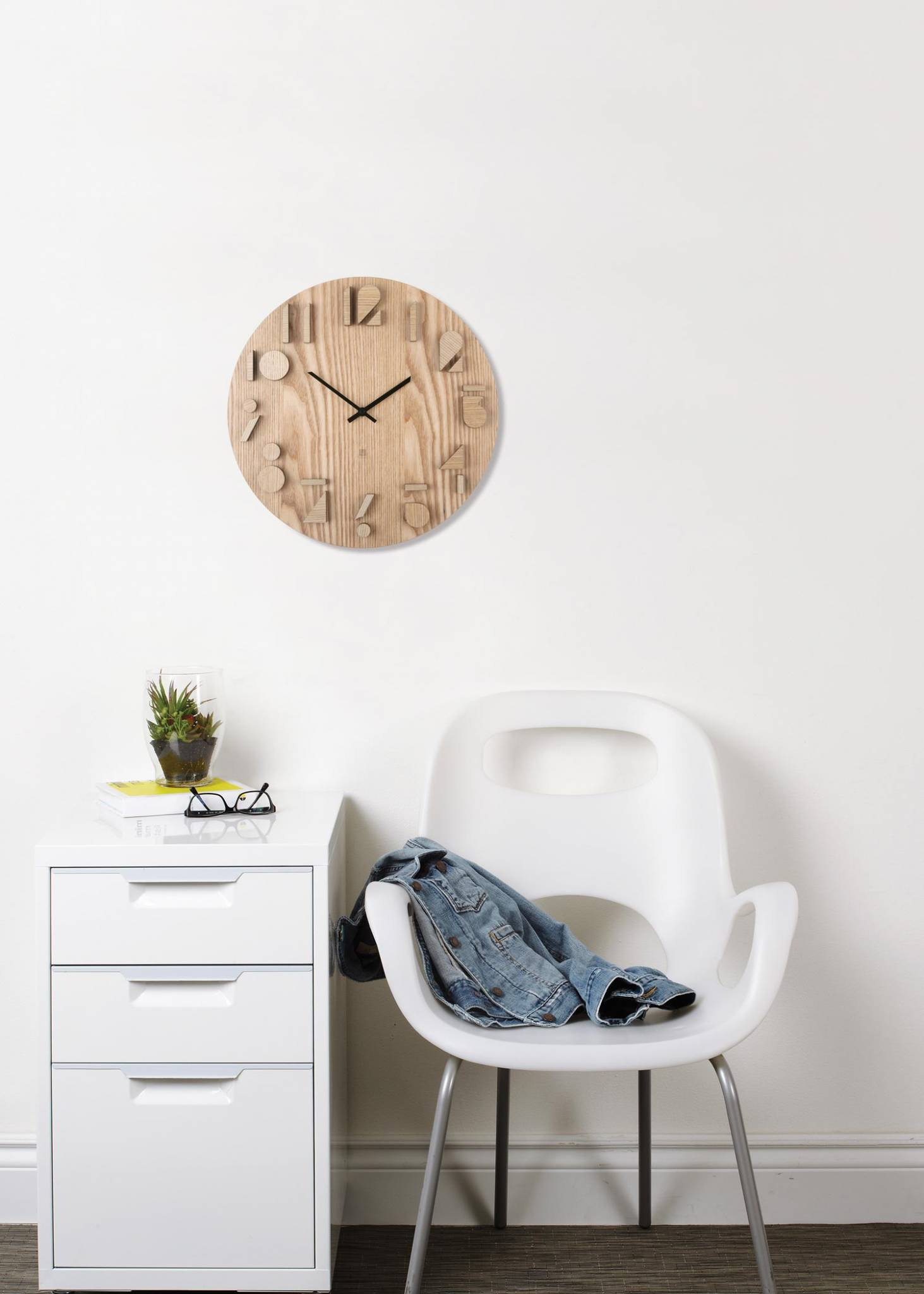 Shadow Wall Clock Natural Modern Intentions Shop Clocks