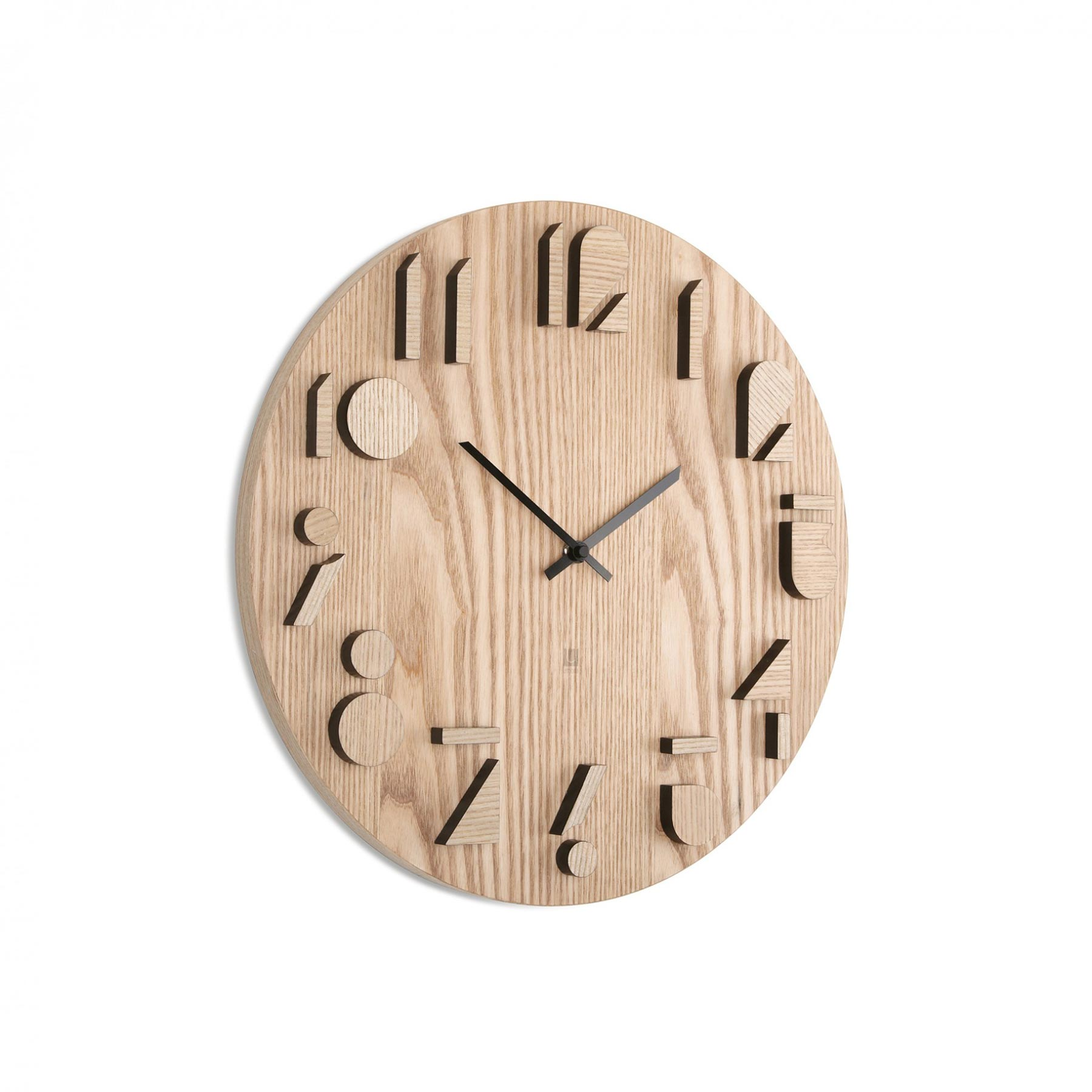 Shadow wall clock natural modern intentions shop clocks for Decoration murale umbra