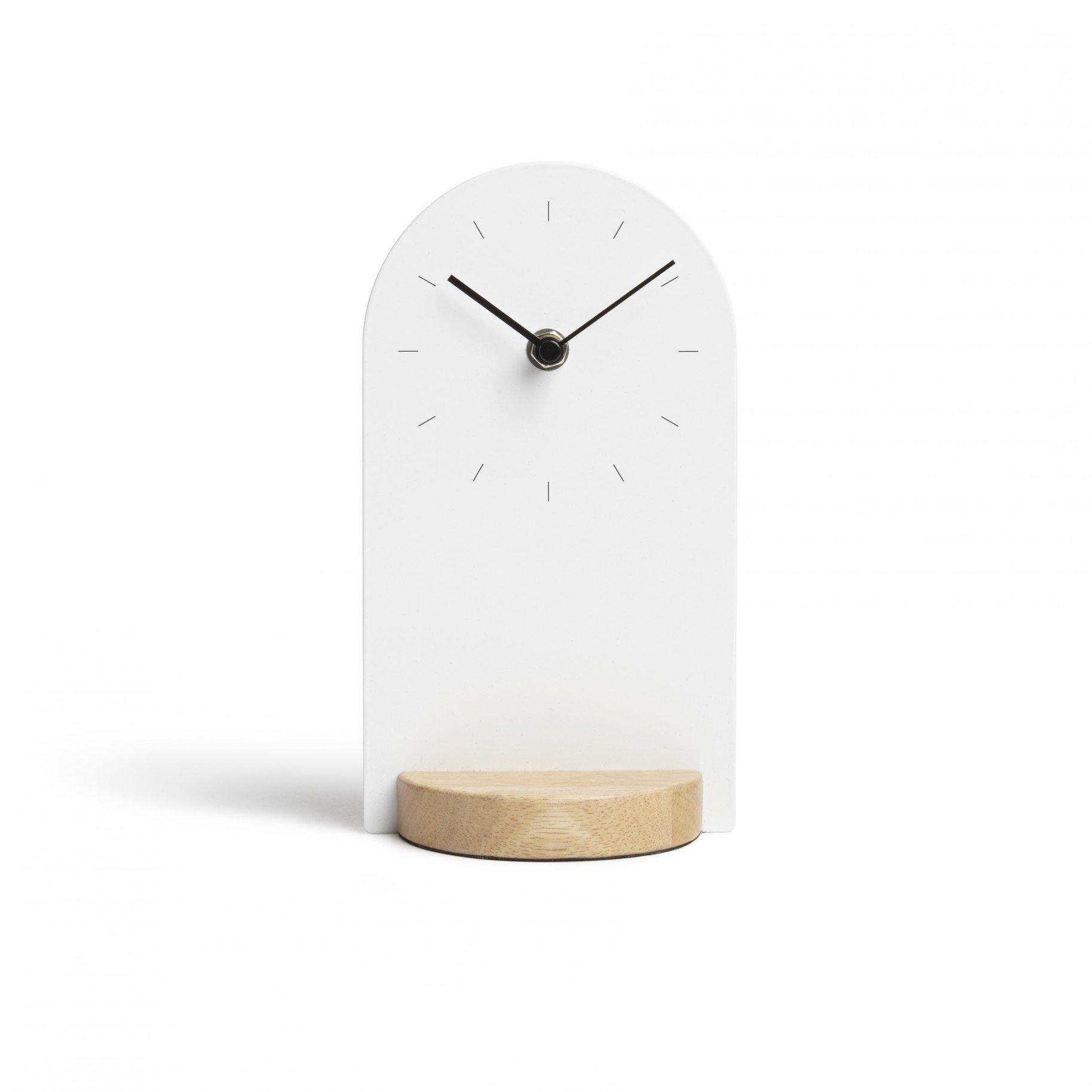 sometime desk clock  modern intentions  shop clocks - sometime desk clock umbra
