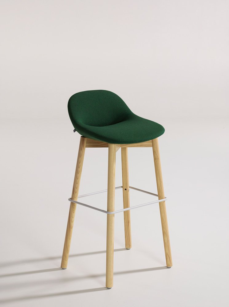 Beso Bar Stool Wood Legs Modern Intentions Shop
