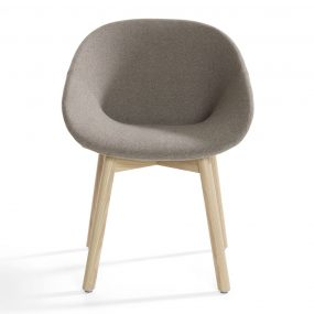 Beso Armchair (Wood Legs) by Artifort