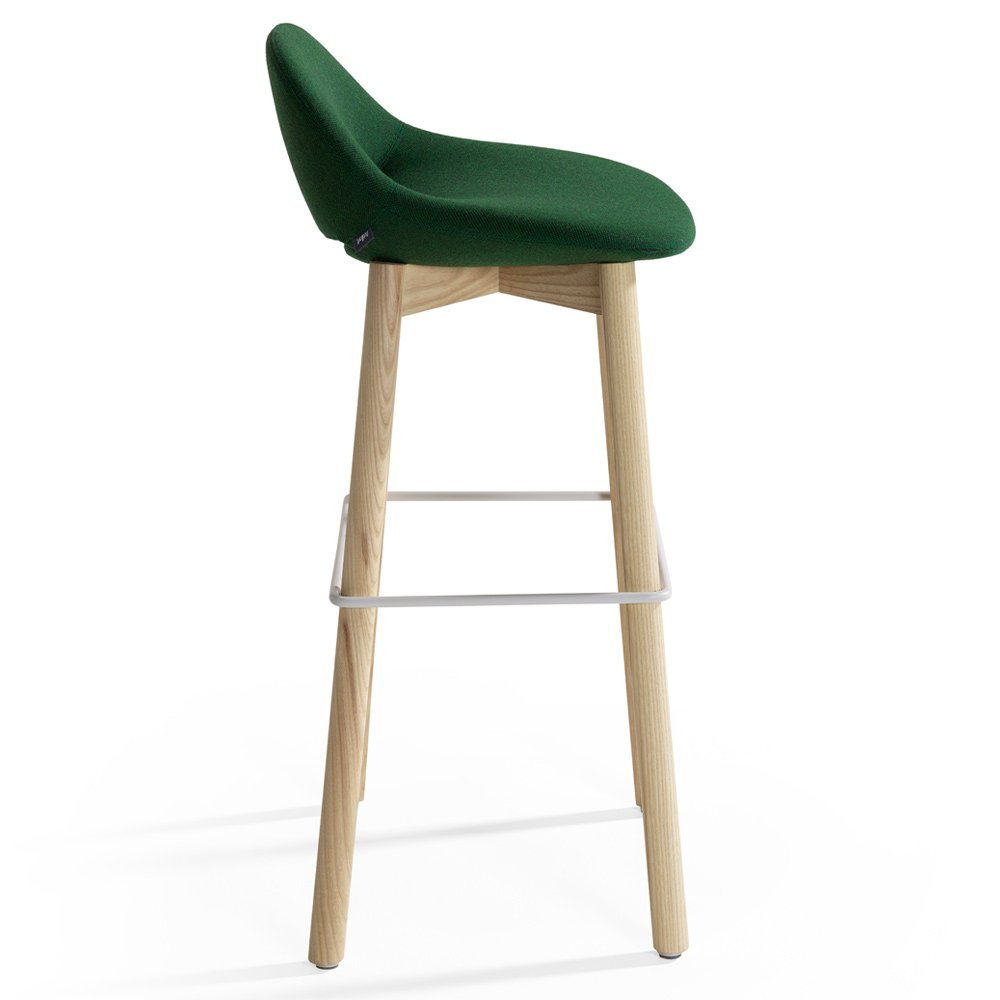 Beso Bar Stool Wood Legs Modern Intentions Shop  : Beso Bar Stool Wood Legs in deep green by Artifort from modernintentions.com size 1000 x 1000 jpeg 90kB