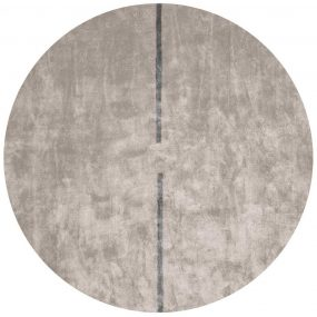 Lightsonic Round Rug with a Dark Grey Stripe