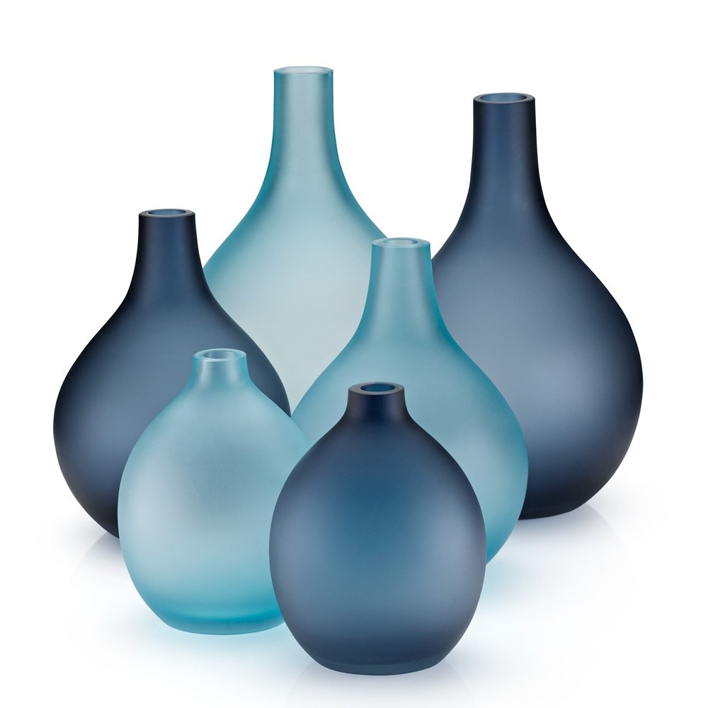 Sansto vase light blue modern intentions shop modern vases reviewsmspy