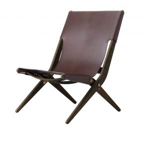 Saxe Lounge Chair Brown by Lassen