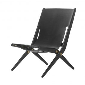 Saxe Lounge Chair Black by Lassen