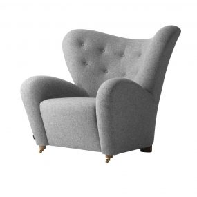 The Tired Man easy chair by Lassen in Grey