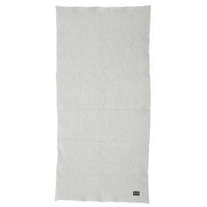 ferm Living Organic Cotton Bath Towel in Light Grey