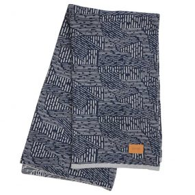 Maze Blanket (Blue) by ferm LIVING