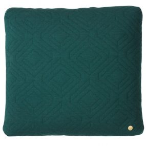 Quilt Dark Green Cushion by ferm Living