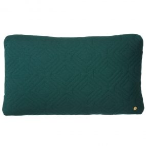 Quilt Dark Green Cushion Rectangle by ferm Living