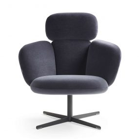 Bras Highback Swivel Easy Chair by Artifort