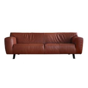 Santiago Sofa in Taurus Brown Red